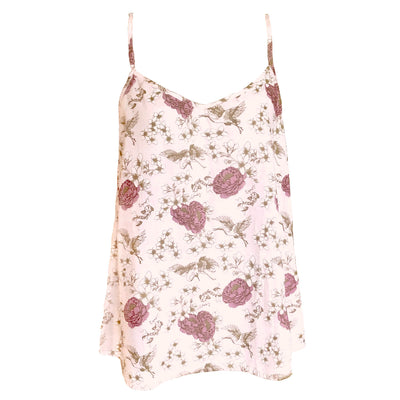 camisole in floral print in organic cotton