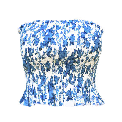 blue floral cotton lingerie