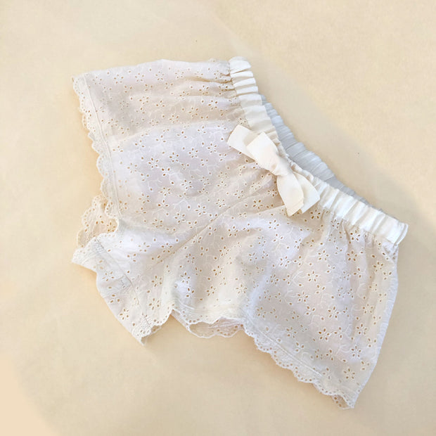 Georgia luxe bed shorts in cream