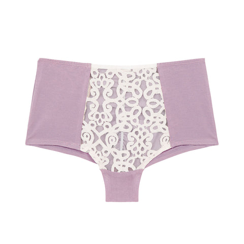 organic cotton high waisted knickers, cotton underwear, cotton knickers, organic cotton underwear, eco lingerie, lavender
