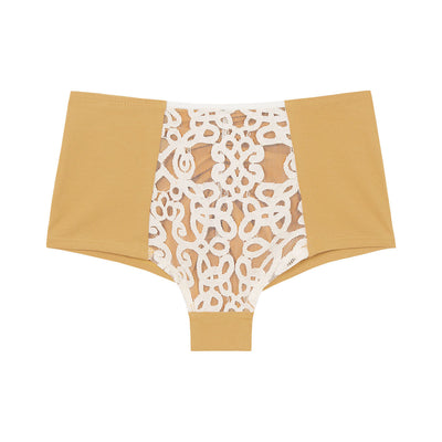organic cotton high waisted knickers in yellow, cotton underwear, cotton knickers, organic cotton underwear, eco lingerie