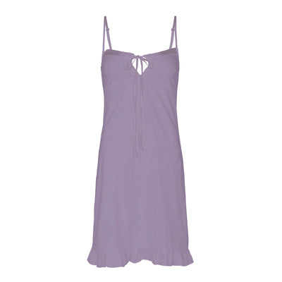 Love slip - organic cotton with silk trim in lavender