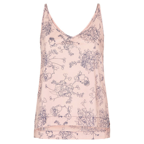 organic cotton singlet tank cami in blush pink, organic cotton sleepwear,