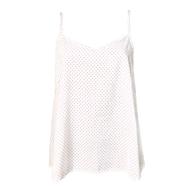 Frea camisole in organic cotton polkadot