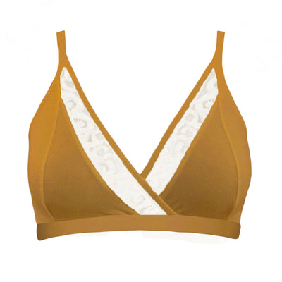 Penny bra with lace in marigold
