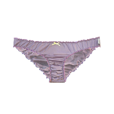 lavender silk and cotton ruffle knickers