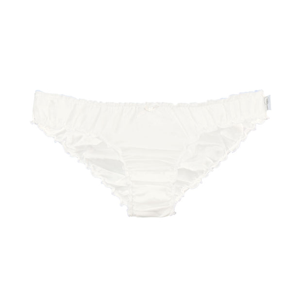 Ruffle knickers in silk cotton