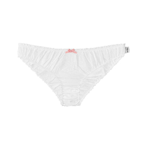 white swiss dot knickers in white, white underwear, cotton knickers