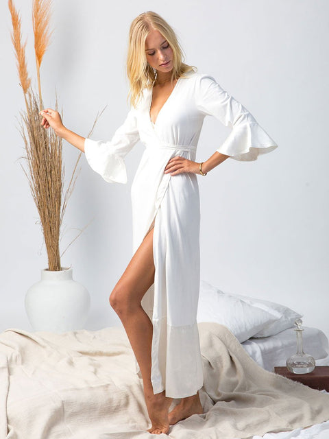 Organic cotton and silk robe