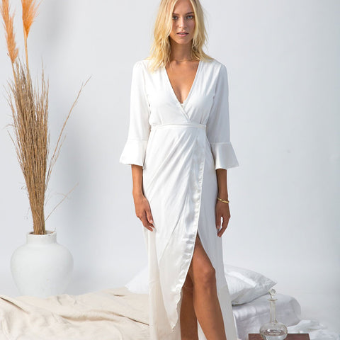 organic cotton and silk lounge wear, robe, dressing gown,