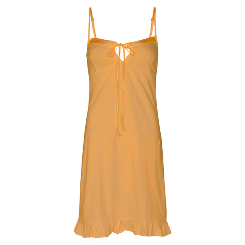organic cotton slip dress in dandelion yellow, cotton clothing, organic cotton sleepwear,