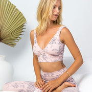pink yoga bra in organic cotton, yoga bra, yoga top,