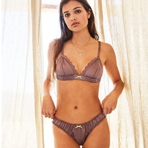 lavender purple silk lingerie