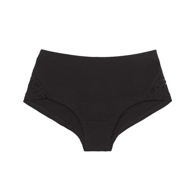 Organic cotton boy leg knickers in black