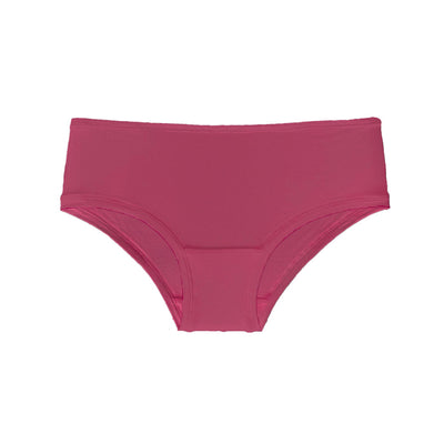 Mid-rise boyleg brief in raspberry - Eco Intimates