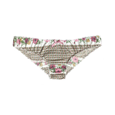 cotton ruffle knickers in floral print, cotton lingerie, cotton underwear