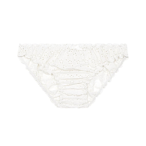Georgia ruffle knickers in snow white
