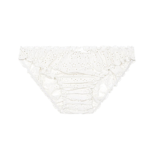 Georgia ruffle knickers in white