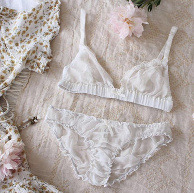 Bella bralette in silk georgette