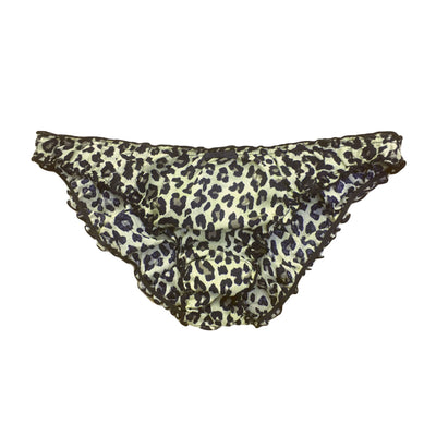 Cotton ruffle knickers in jungle
