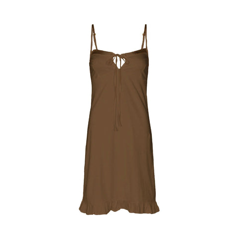Marion organic cotton slip in cinnamon