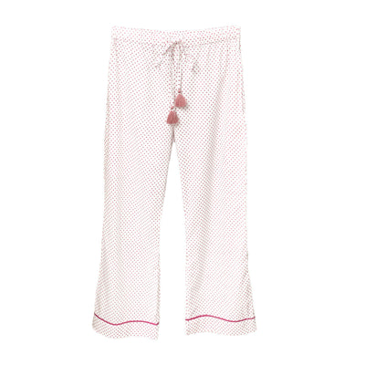 Pyjama pants in organic cotton polka dot print