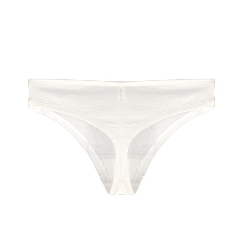 Organic cotton thong in natural - Eco Intimates