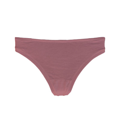 front view of organic cotton thong in rose pink colour