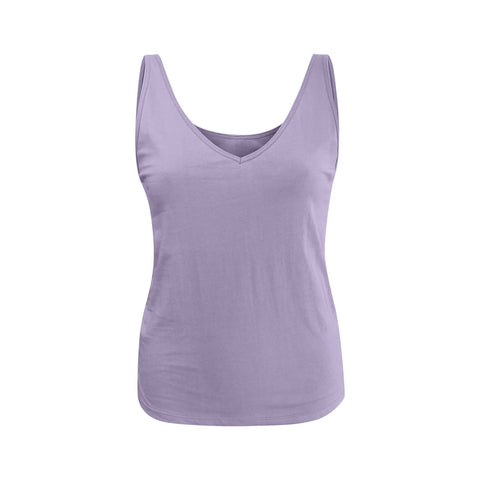 organic cotton singlet tank in lavender colour, organic cotton singlet tank singlet, cotton top, basic, organic basics,