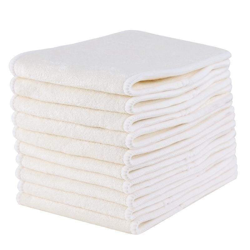10 Pcs 4 Layers Bamboo Diaper Insert - Mommies Best Mall