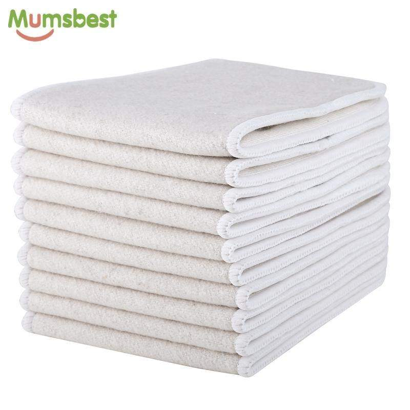 10pcs Hemp & Organic cotton  Inserts 4 Layers - Mommies Best Mall