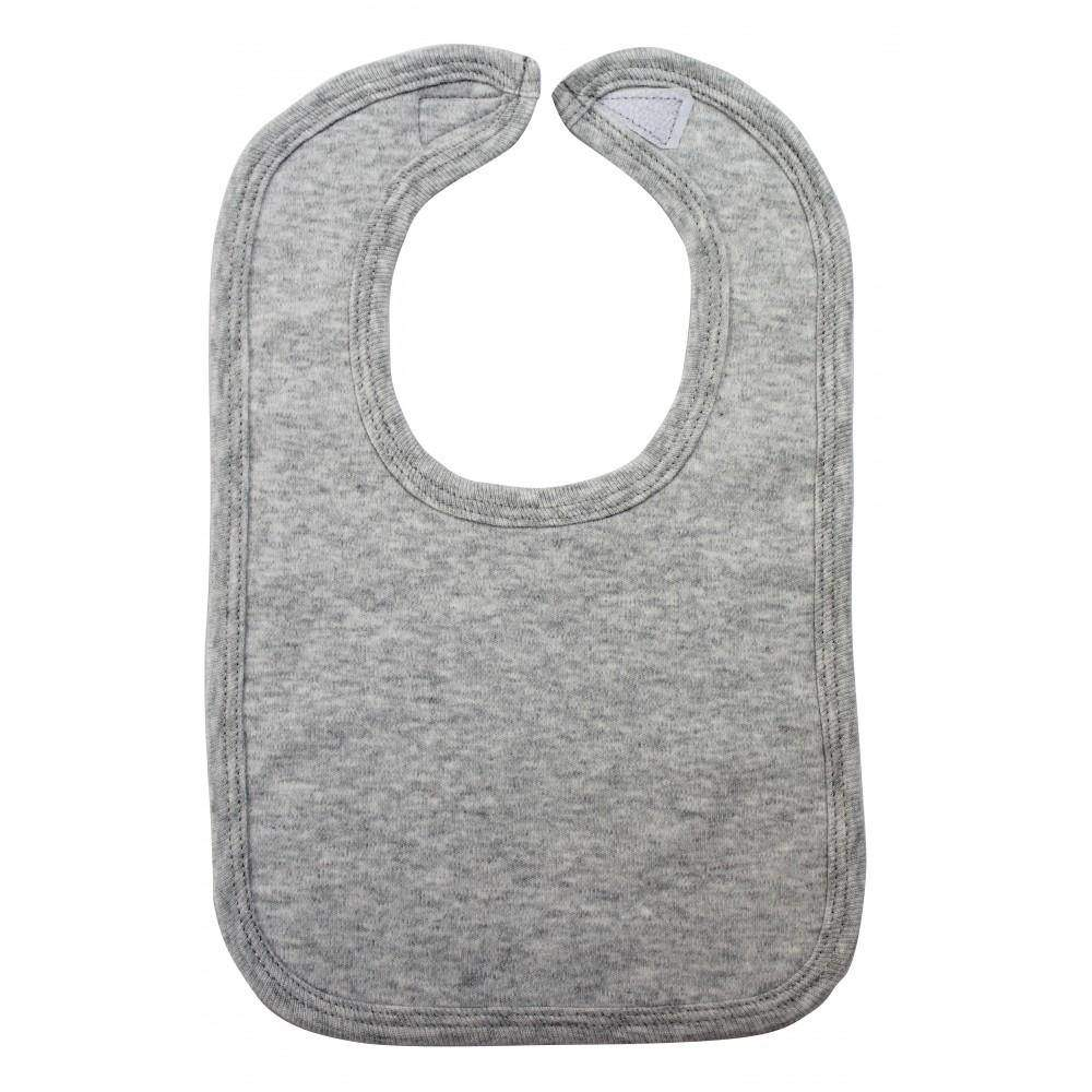 2-Ply Interlock Solid Pastel Blue Infant Bib