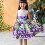 Flower Printed  Cotton Girl Dress