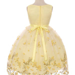 3D Metallic Butterfly Mesh Girl Dress