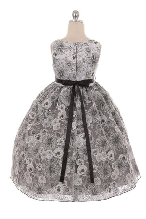 Floral Organza Girl Dress