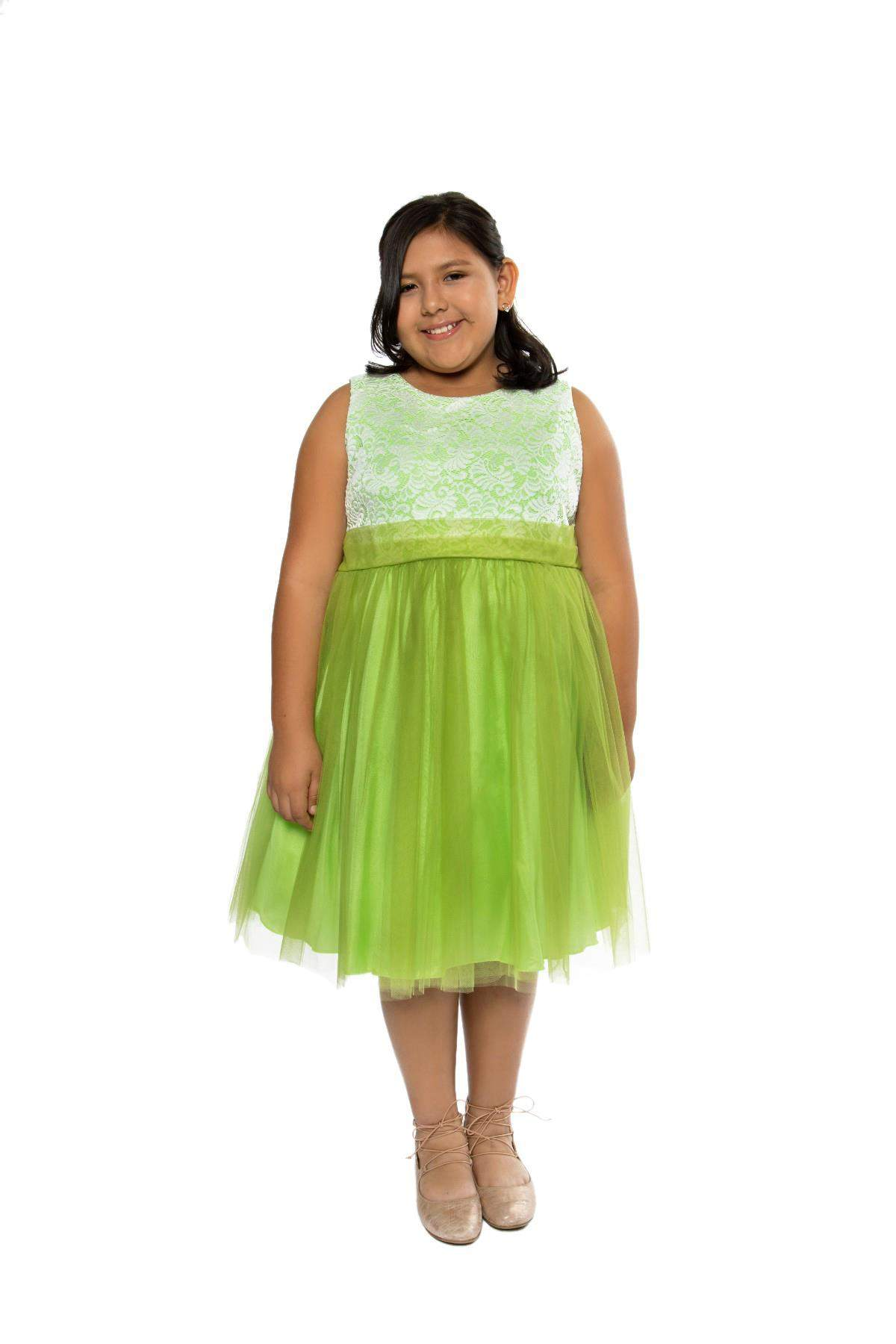 Stretch Lace Plus Size Girl Dress