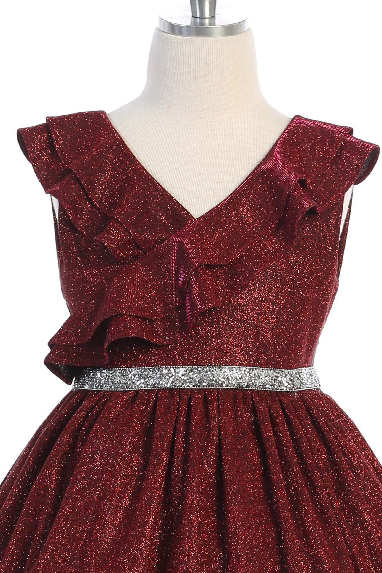 Sparkly Ruffle Dress
