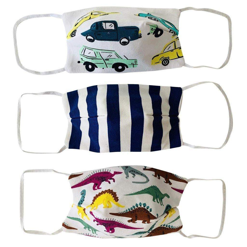Face Mask Boys 3 Pack Fabric
