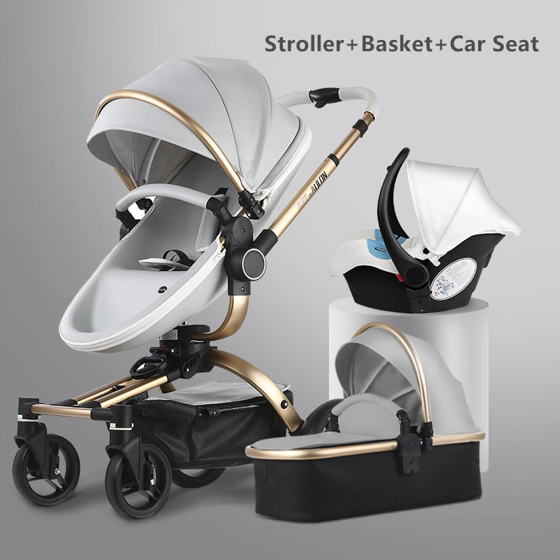 Aulon Luxury Baby Stroller 3 in 1 - Mommies Best Mall