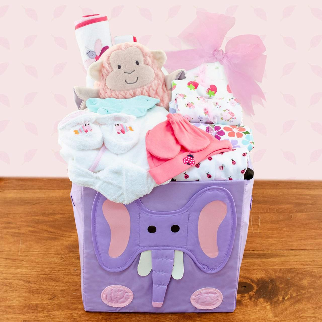 Best wishes baby girl gift basket - Mommies Best Mall
