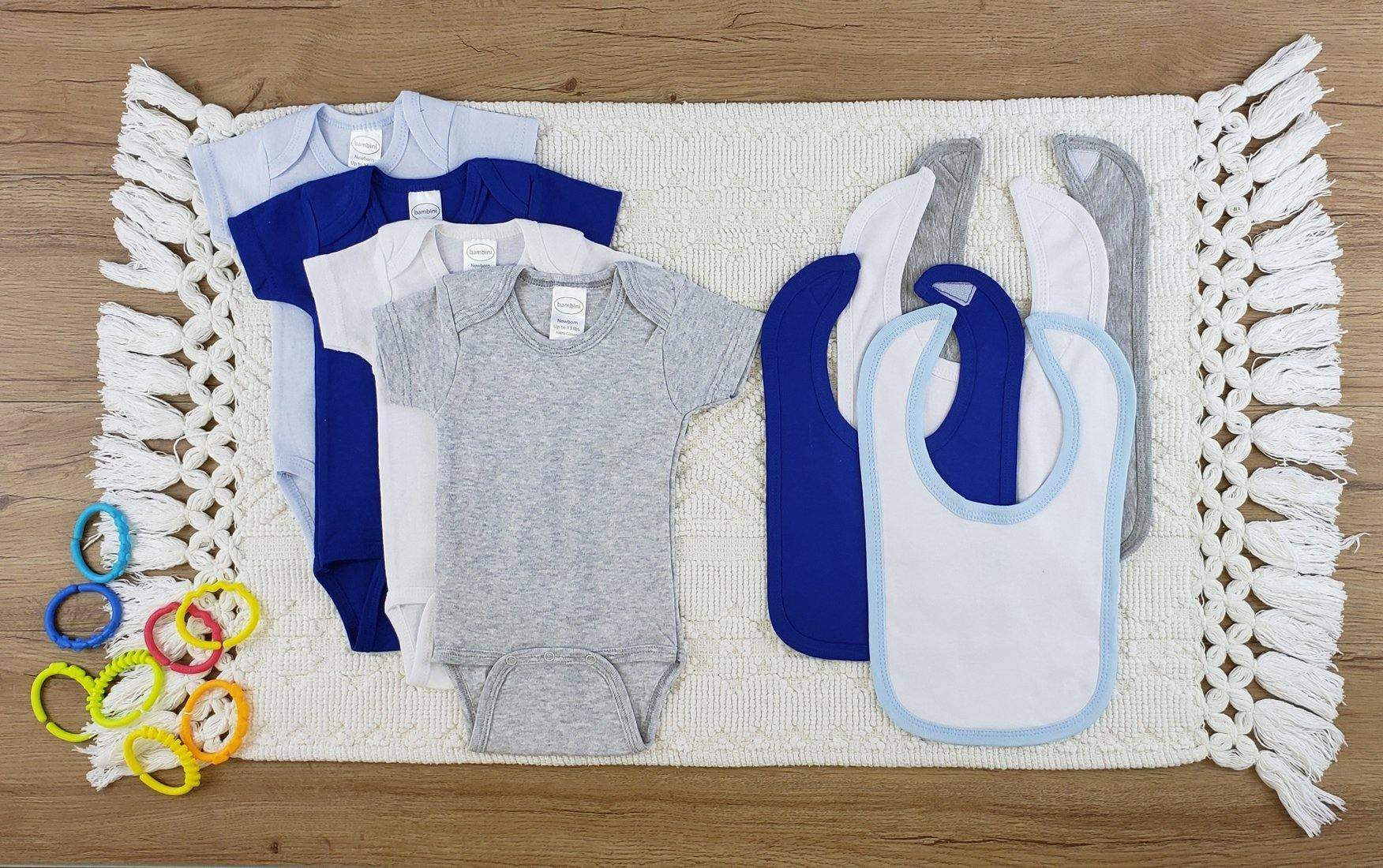 Bambini 8 Pc Layette Baby Clothes Set (NB,S,M,L)