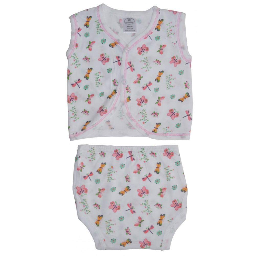 Jersey Print Diaper Shirt with Training Pants Set (NB,S,M)