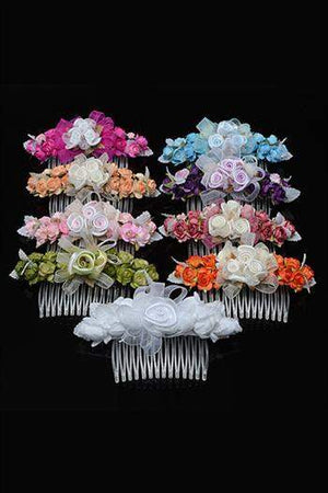 Floral decorations on a comb