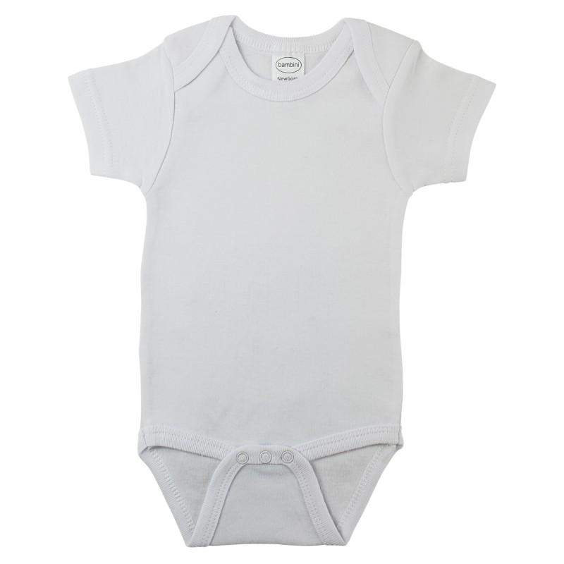 Interlock Short Sleeve Onesie (NB,S,M,L)