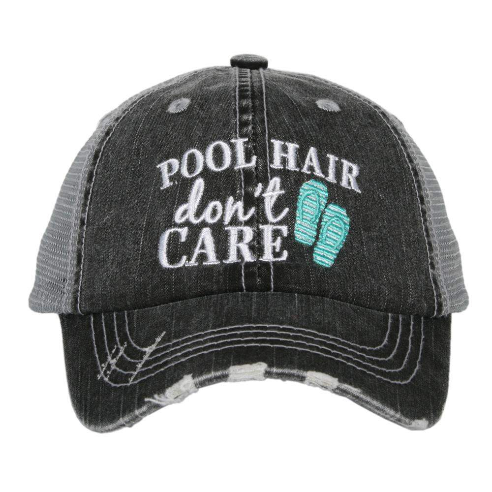 Pool Hair Don't Care KIDS Hats