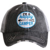 I'm A Happy Camper Patch KIDS Hats