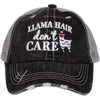 Llama Hair don't Care KIDS Hats