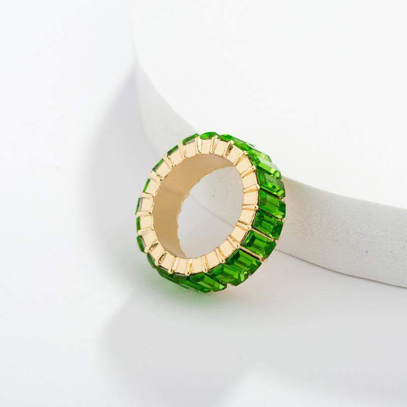 Green Glass Rings