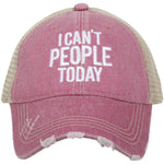 I Can't People baseball Cap
