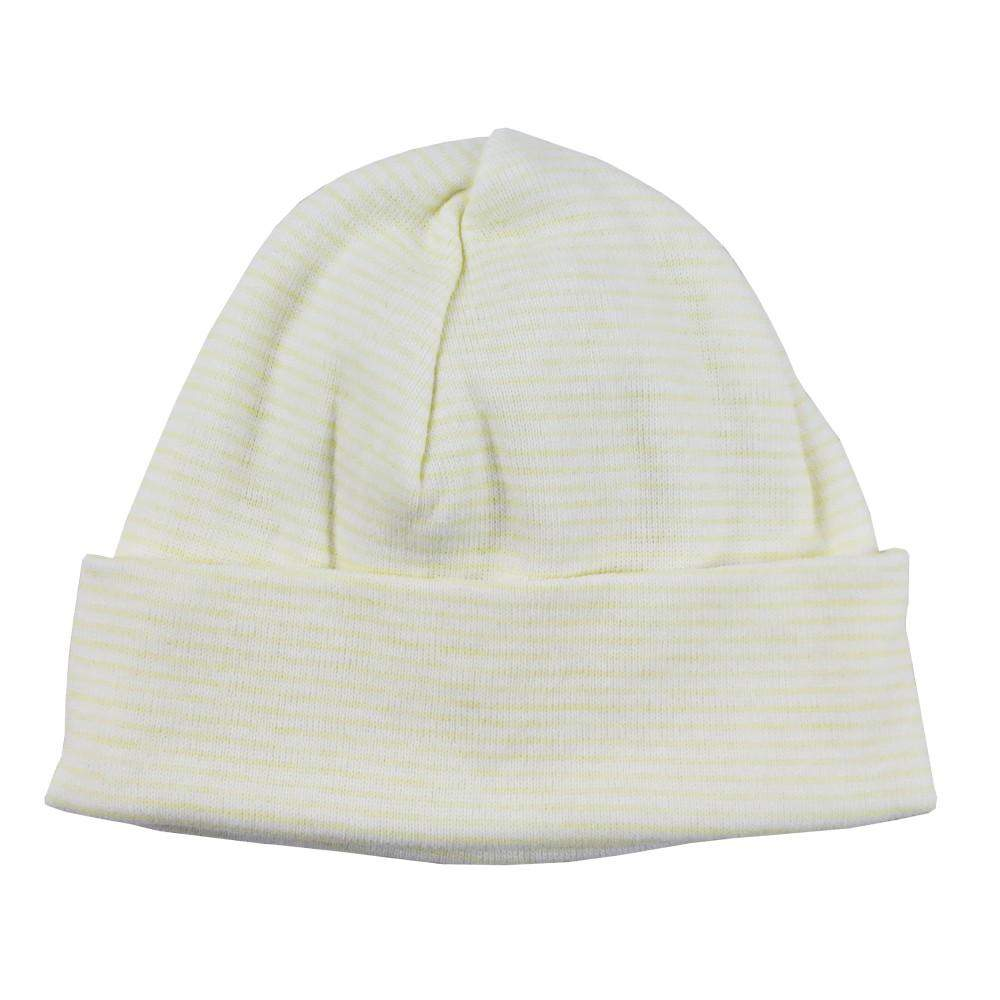 "Printed Rib Knit Beanie ""Baby's First Cap"""